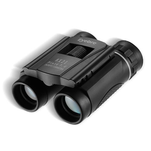 Binocular de bolsillo plegable 8x21