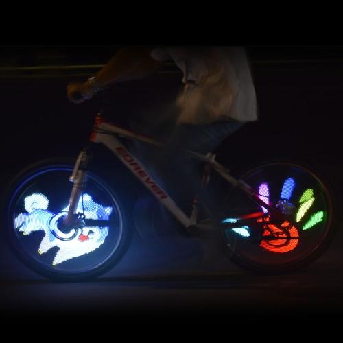 64 LEDs Wireless Bicycle Spokes Lights Color Changing Programmable Bicycle Light Spoke Wheel Light Bike Light Lamp Image