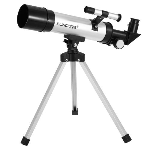Telescopio rifrattore esterno Telescopio astrattico rifrattore Telescopio astronomico Luna Star Cannocchiale con treppiede Finderscope per bambini