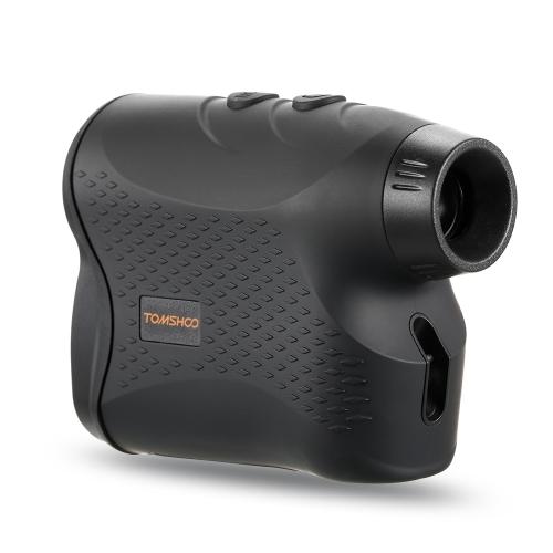 600 Yards 6X25mm Laser Range Finder Golf Telemetro con bandiera Bloccando la scansione Modalità di nebbia Distanza Misurazione della velocità per la caccia esterna Corse di cavalli