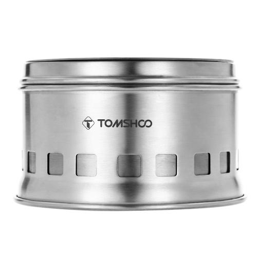 tomshoo portable pliant coupe vent po le bois po le compact en acier inoxydable po le alcool. Black Bedroom Furniture Sets. Home Design Ideas