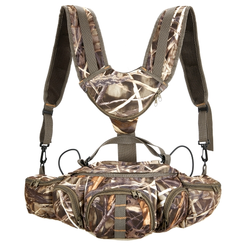 Multifuncional escalada bolsa de camuflaje para senderismo al aire libre Pesca Camping Deportes caza Fanny Pack