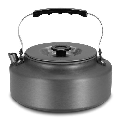 1.6L Portable Wasserkocher Wasser Topf Teekanne Kaffeekanne Indoor Whistling Aluminiumlegierung Teekessel Outdoor Camping Wandern Picknick Topf