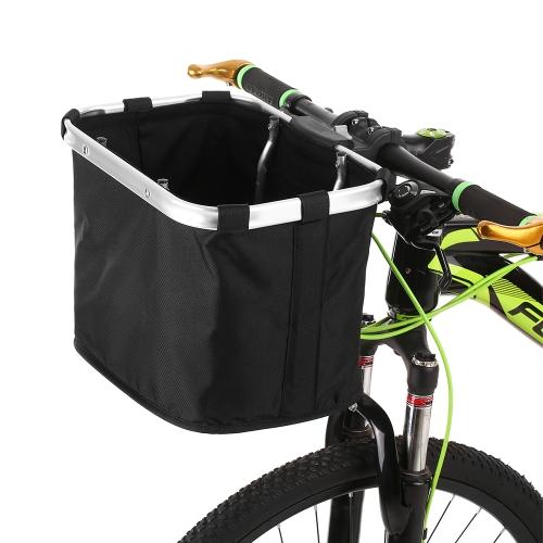 Lixada anteriore della bicicletta cestino pieghevole manubrio della bici smontabile cestino dell'animale domestico della borsa del trasportatore del cane del gatto maniglie della struttura di alluminio