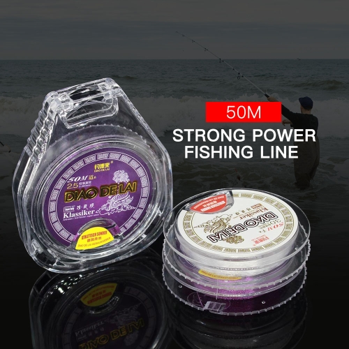 50M Fishing Line Monofilament Fishing Line Strong Abrasion Nylon Fishing Sub Main Line Image
