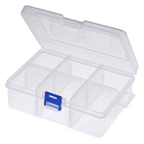 Compartimentos de pesca Caja de herramientas Señuelos Swivels Hooks Tackle Box con divisores ajustables