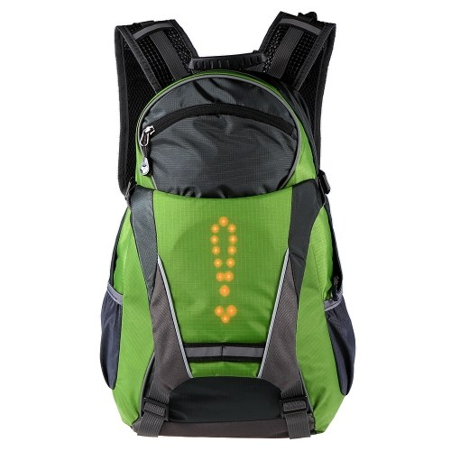 Lixada 18L Cycling Bicycle Bike Backpack LED Turn Signal Light Reflective Bag Pack Outdoor Safety Night Riding Running Camping