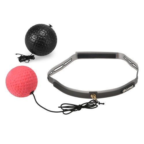 Boxing Reflex Ball 2 Level Pouching Ball with Sweat Band for Combat Sports Fitness Speed Training Reaction Eye Coordination Training