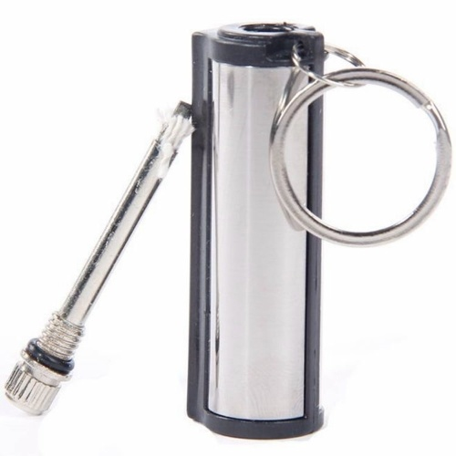 Cylindrical Stainless Steel Key Chain Lighter