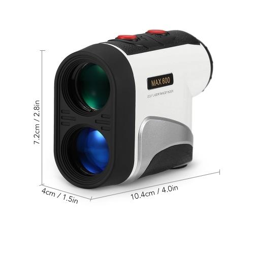 600M Golf Laser Rangefinder Precision Range Finder 6X Magnification Distance Meter Angle Height Range Finder for Golf Hunting Horse Racing thumbnail