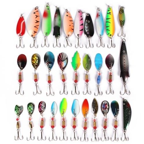 Confezione da 30 pezzi esche da pesca colore misto / taglia / peso