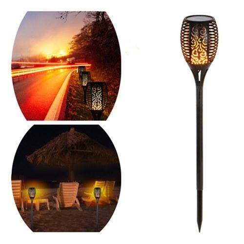 Torcia solare da esterno 96 LED Fiamme luminose Luci Illuminazione da prato Lampada da decorazione paesaggistica