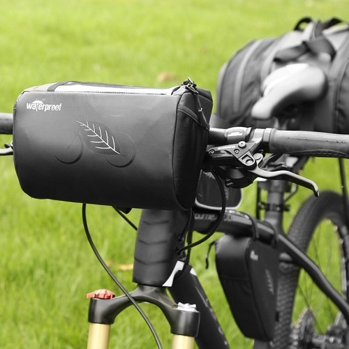 Bike Frame Bag Front Tube Bag Handlebar Bag Bicycle Bag with Touchscreen Phone Case Image