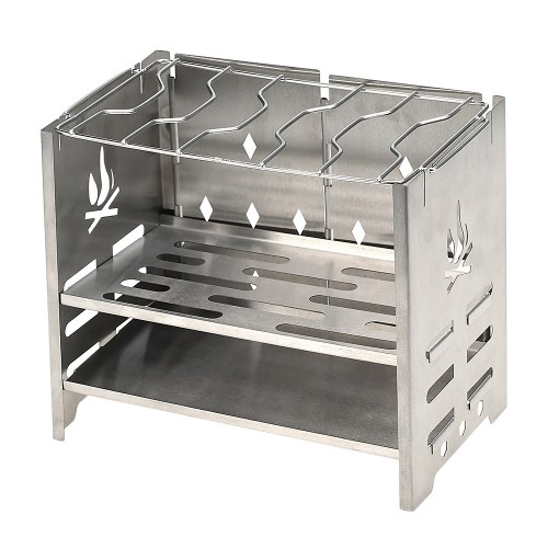 Potable Folding Stainless Steel Backpacking Stove фото