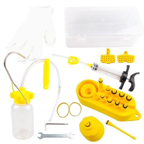 Профессиональный комплект для прокачки гидравлических дисковых тормозов Гидравлический комплект для прокачки минеральных дисковых тормозов Инструмент для всех точечных тормозов