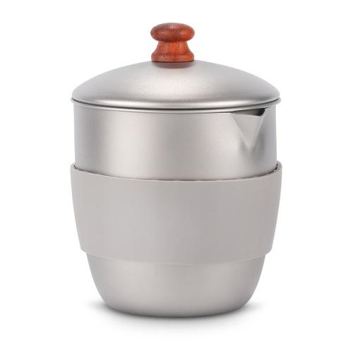 Lixada 300 мл Открытый кемпинг Титановый чайник Чайник с заварочным узлом