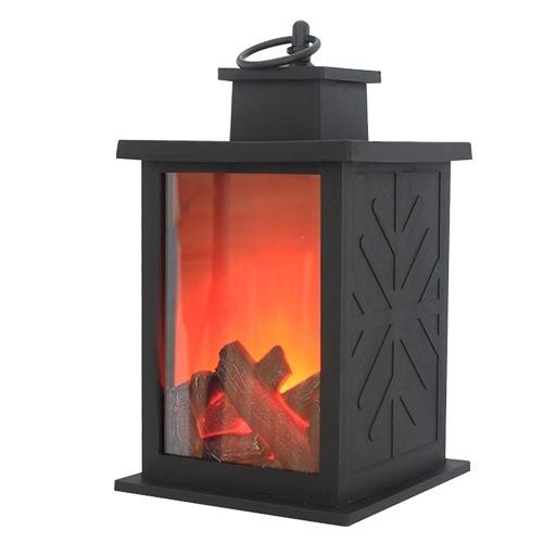 Dekorative Kamin Laterne Tischplatte Flammenlose LED Laterne Hängelaterne Für Indoor Outdoor