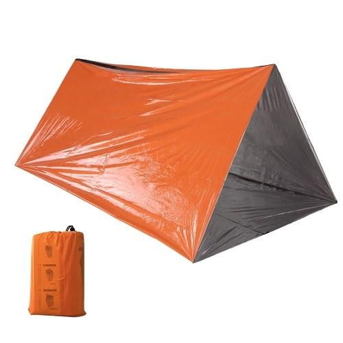 Tenda Tubo de Emergência Survival Orange Shelter Rescue Camping Tenda Filme de Alumínio Saco de Dormir
