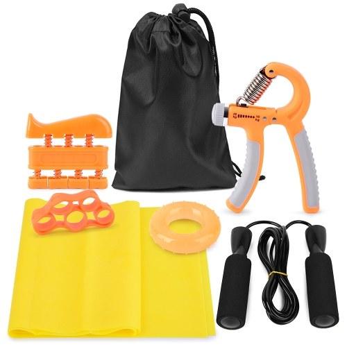 7pcs Exercise Set Hand Grip Strengthener Workout Kit