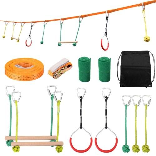 Детская скалолазание Ninja Rope Ninja Line Препятствия для тренировок с препятствиями Kids Fun Slack Line Открытый детский спортивный инвентарь