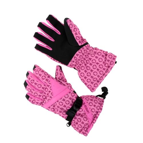 2pcs invierno las mujeres a prueba de viento térmico esquí patinaje guantes