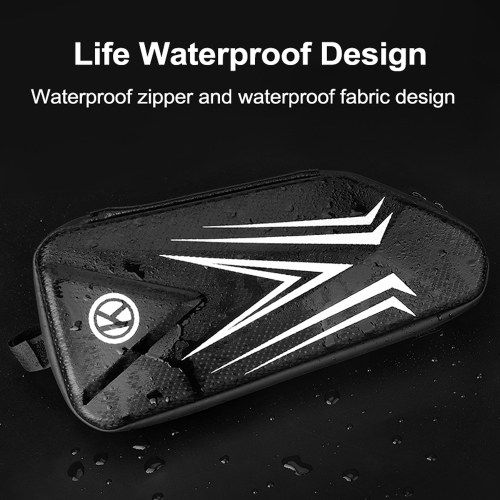 Bike Bag Cycling Bike Front Frame Triangle Bag Hard Shells Waterproof Bike Pack Cycling Top Tube Pouch