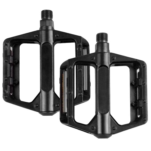 1 Pair Reflective Bike Pedals Aluminium Alloy Flat Bicycle Platform Pedals Mountain Bike Pedals Cycling Pedals Image