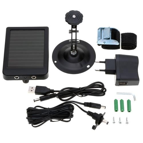 Energía Solar portable suministro Solar Panel para cámara de caza serie HT002