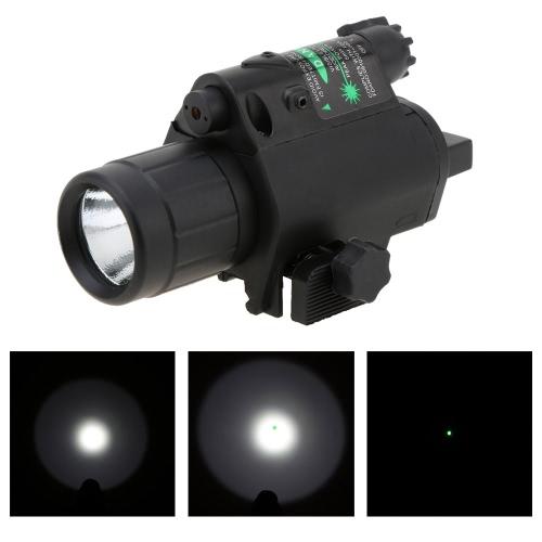Full Metal táctico linterna luz LED con interruptor 3 modo de la cola de mira
