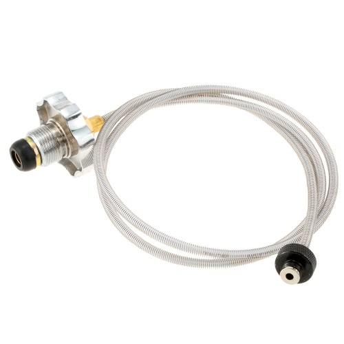 Fornello da campeggio all'aperto uso domestico GPL cilindro Gas serbatoio conversione testa adattatore 105cm lunghezza 4MM di diametro