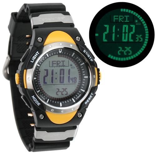 SUNROAD 3ATM Waterproof Altimeter Compass Stopwatch Fishing Barometer Pedometer Outdoor Sports Watch Multifunction