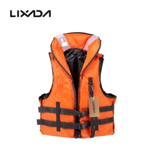 Lixada professionale poliestere adulto giubbotto sopravvivenza panciotto di nuoto in barca alla deriva con fischietto di emergenza