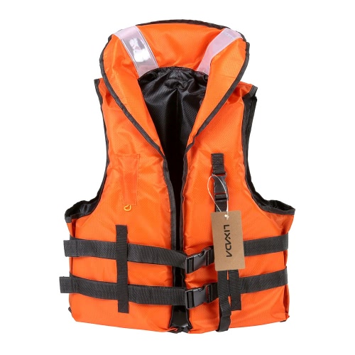 Lixada Professional Polyester Adult Safety Life Jacket Survival Vest Swimming Boating Drifting with Emergency Whistle