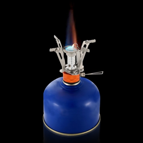 Lixada Super Lightweight Mini Pocket Outdoor Cooking Burner Folding Camping Gas Stove 3000W