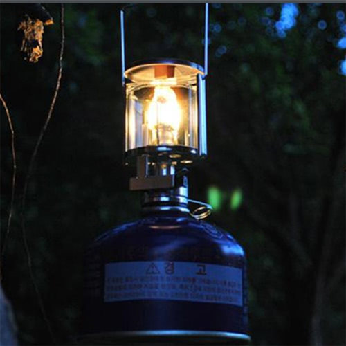 BRS Wind Resistant Gas Lamp Outdoor Camping Mini Lamp Torch Hanging Chimney Fueled by Camping Butane Portable