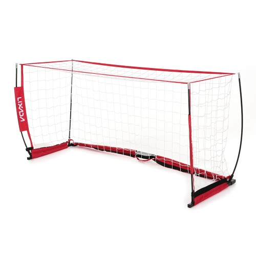 Lixada meta del fútbol 6,6 * 3,3 pies desmontable portátil Red de fútbol robusta estructura de fibra de vidrio poste de Formación del patio trasero