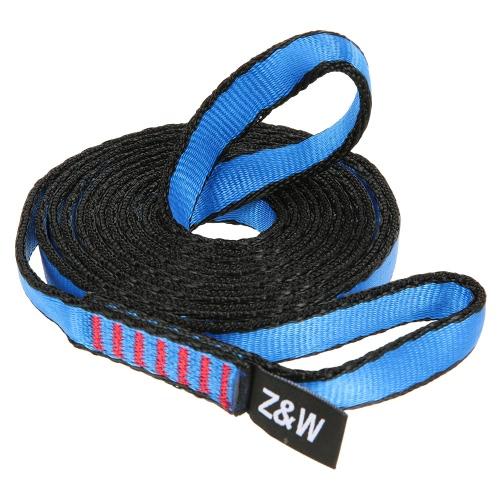 23KN 16 millimetri 150 centimetri / 4.9ft corda Runner tessitura Sling piatto Strap Belt per Alpinismo Arrampicata Speleologia Rappelling Rescue Ingegneria
