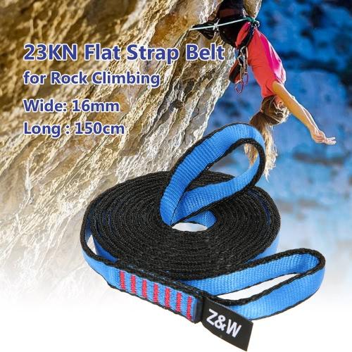 23kN 16mm 150cm / 4.9ft Rope Runner Bandschlinge Flach-Gurt für Bergsteigen Klettern Caving Abseilen Rettungstechnik