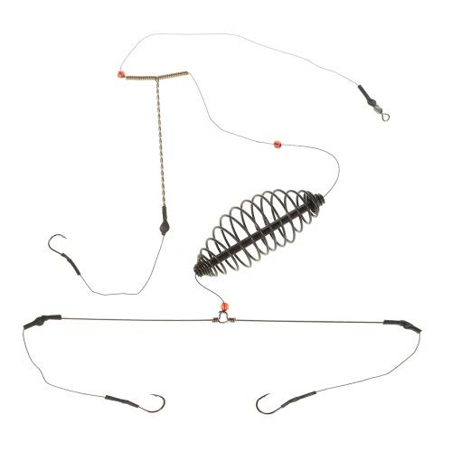 Pesca Gabbia Bait Lure con 3 Linea Ganci Carp Feeder attrezzatura da pesca Accessori 7cm / 9 centimetri