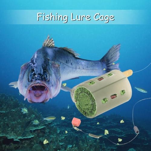6PCS extremo abierto Alimentadores de los pesca del cebo de pesca Jaula Trampa señuelo de pesca con la jaula de Plomo Lastre 30g 40g 50g 80g 60g 70g