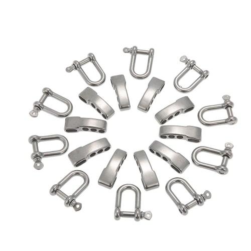 Lixada 10PCS Ferro di cavallo di regolazione regolabile Anchor Grillo corda esterna Paracord braccialetto fibbia in acciaio inossidabile