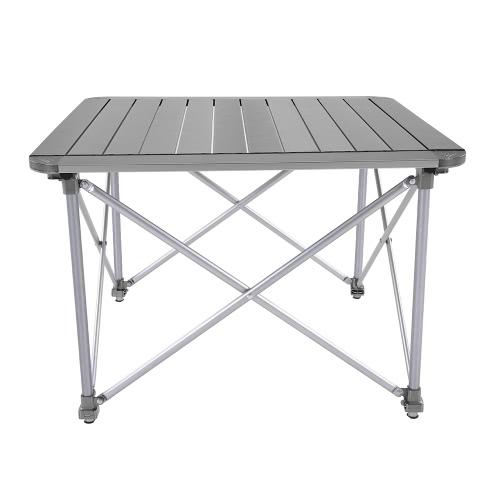 Altura de la mesa plegable ajustable portable al aire libre de aleación de aluminio que acampa escritorio de la tabla Mesa de picnic plegable con bolsa de transporte de muebles