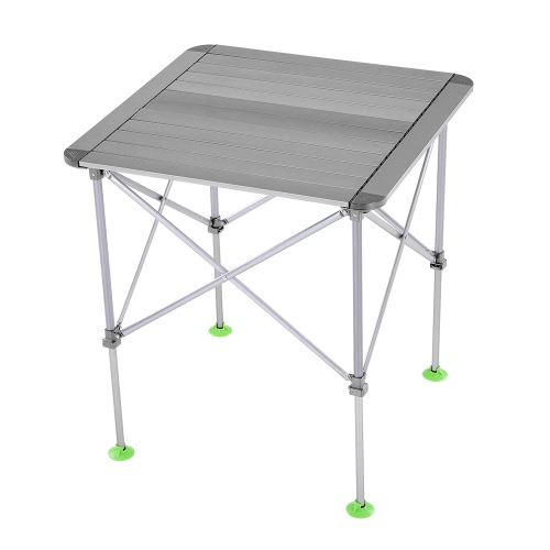Tavolo pieghevole da tavolo regolabile in altezza portatile da esterno in lega di alluminio Tavolo da picnic pieghevole da campeggio con tavolo e borsa per il trasporto