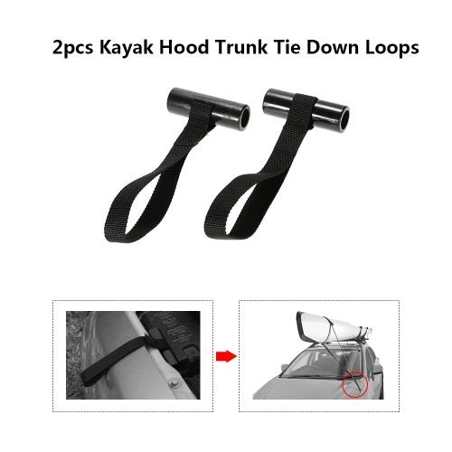 2 Stück Küstenlinie Marine-Kajak-Kanu-Hood Trunk Fahrzeug Fließheck Tie Down Loops