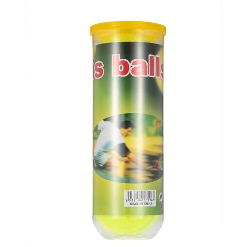 3PCS / Can Tennis Training Ball der Praxis hohe Schlagfertigkeit Durable Tennisball-Trainingsbälle für Anfänger Wettbewerb