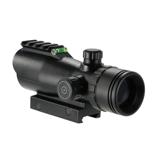 1X30 Tactical Reflex Red Dot Sight Scope Riflescope Optic Quick Detach Riser Mount Release Lens Covers Rail Mount Hunting Spotting thumbnail