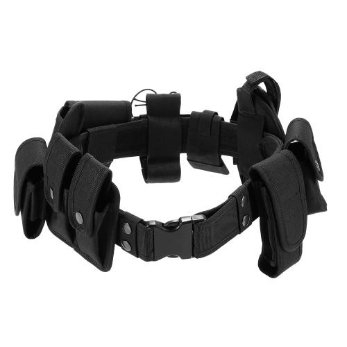 Lixada Outdoor Tactical Belt Law Enforcement Modular Equipment Polícia de Segurança Militar Dever Utility Belt com malotes Holster engrenagem