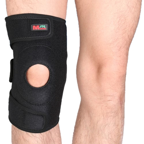 Mumian 1pcs Einstellbare Breathable 3-Fixier-Band-Sport-Knie-Pad Patella-Unterstützung Beschützer Radfahren Laufen Kniewärmer Berg Winter-Knee Protect Sleeve Brace verdickte