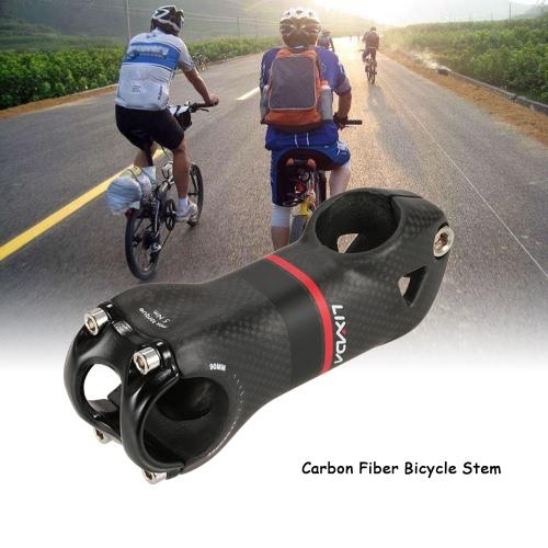 Lixada 7 Degree / 17 Degree Cycling Bicycle Stem 31.8x90mm Carbon Fiber Bike Handlebar Stem for MTB Mountain Bike Road Bike Fixed Gear