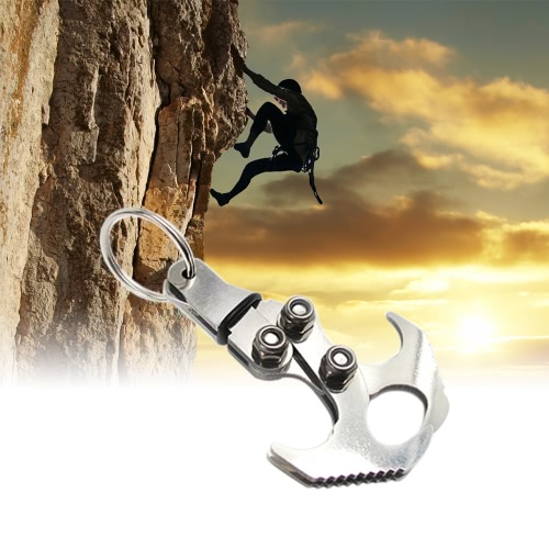 Lixada Gravity Hook Outdoor Foldable Grappling Serrated Claws Multifunctional Rescue EDC Tool Tactical Emergency Key Chains Stainless Steel